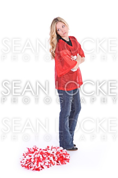 Football: Woman Angry With Team Loss Stock Photography Content by Sean Locke