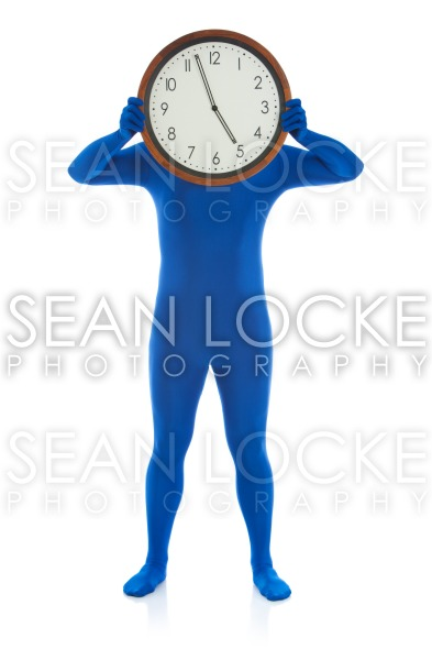 Blue: Hiding Behind Five O'Clock Time Stock Photography Content by Sean Locke