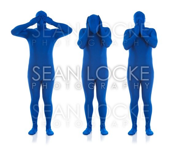 Blue: Hear No Evil, See No Evil, Speak No Evil Stock Photography Content by Sean Locke