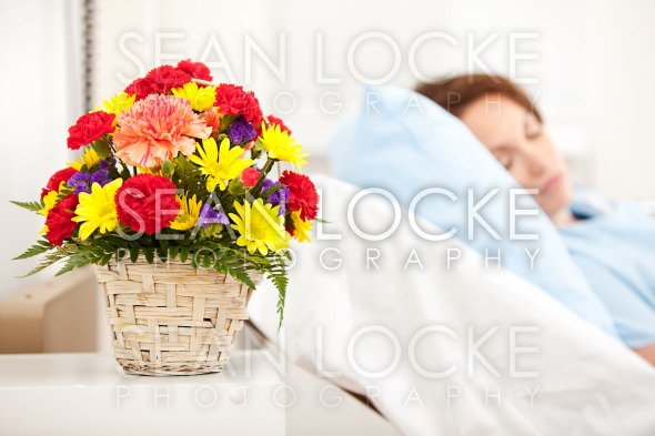 Hospital: Focus on Get Well Bouquet Stock Photography Content by Sean Locke