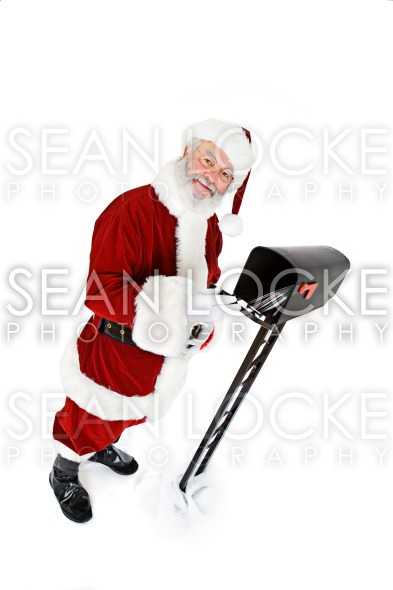 Santa: Santa Gets Mail From Mailbox Stock Photography Content by Sean Locke