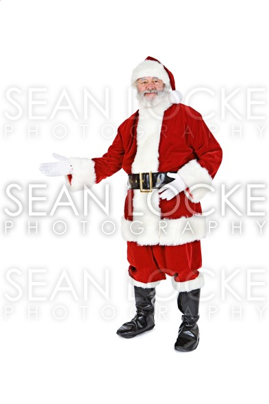 Santa: Santa Gestures to the Side Stock Photography Content by Sean Locke