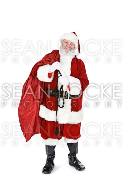 Santa: Holding Sack Full Of Gifts Stock Photography Content by Sean Locke
