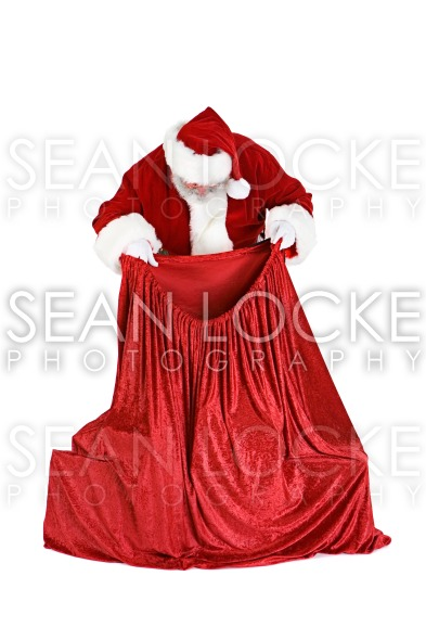 Santa: Checking The Gifts In The Sack Stock Photography Content by Sean Locke