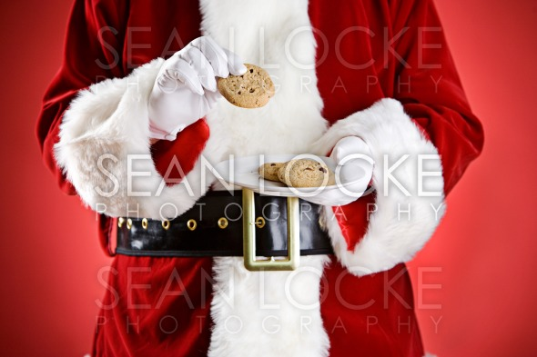Santa: Holding Plate Of Cookies Stock Photography Content by Sean Locke