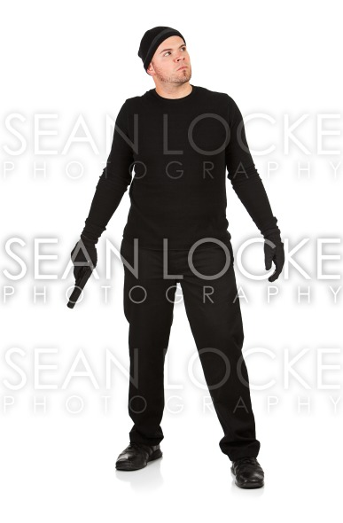 Burglar: Standing with a Gun Stock Photography Content by Sean Locke