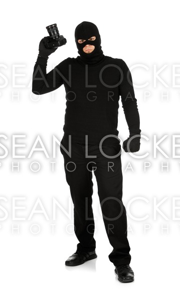 Burglar: Photographers are Criminals Stock Photography Content by Sean Locke