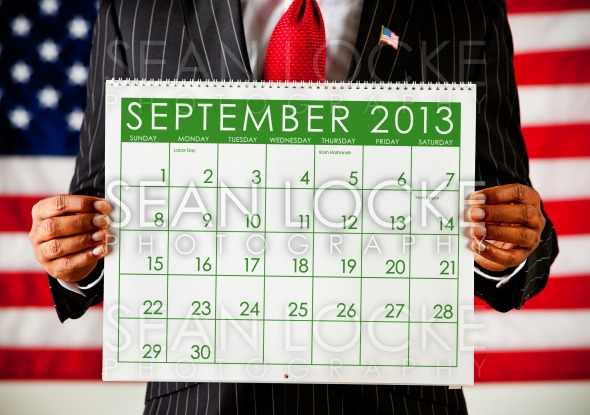 Politician: Holding a Calendar Stock Photography Content by Sean Locke
