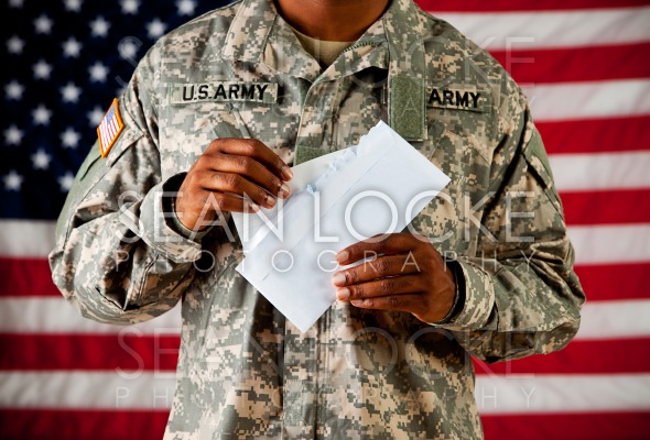Soldier: Opening a Letter Stock Photography Content by Sean Locke