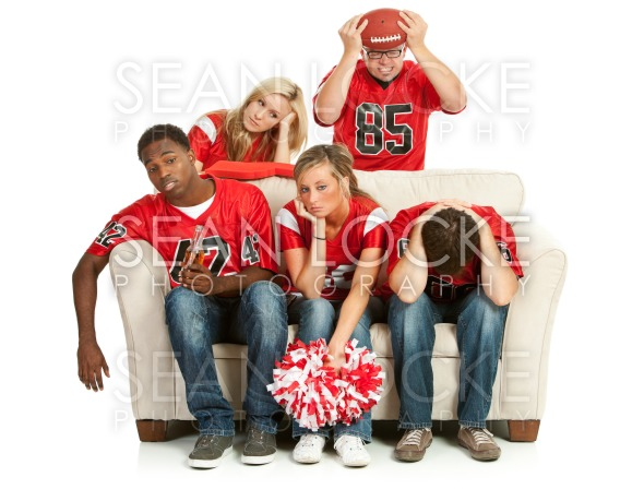 Fans: Group Upset After Losing Game Stock Photography Content by Sean Locke