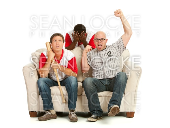 Fans: Man Cheers for Own Team Stock Photography Content by Sean Locke