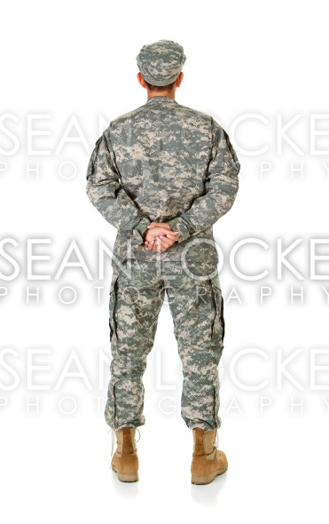 Soldier: Anonymous Soldier from Behind Stock Photography Content by Sean Locke