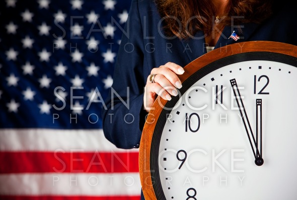 Politician: Holding a Clock Stock Photography Content by Sean Locke