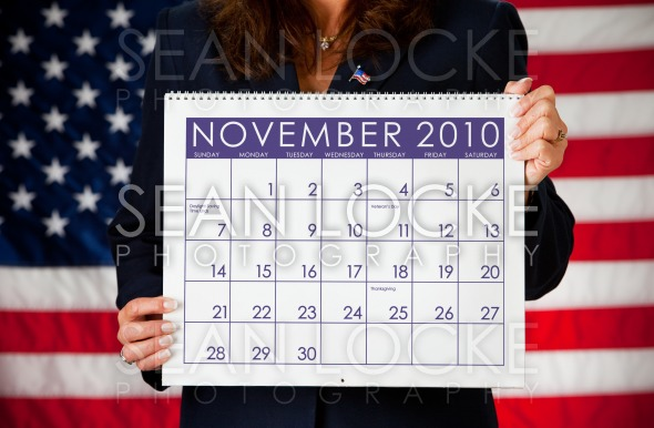 Politician: Holding a Calendar with Election Day Stock Photography Content by Sean Locke