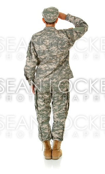 Soldier: Standing At Attention Stock Photography Content by Sean Locke