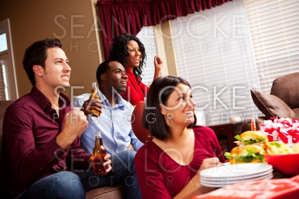 Football: Fans Watching Football On Television Stock Photography Content by Sean Locke