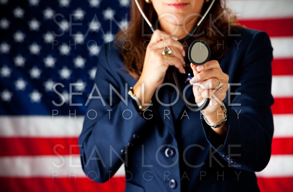 Politician: Playing Doctor with Stethoscope Stock Photography Content by Sean Locke