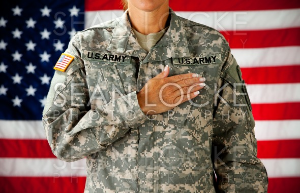 Soldier: Taking Pledge of Allegiance Stock Photography Content by Sean Locke