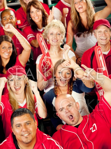 Fans: Crowd Cheers for their Favorite Team Stock Photography Content by Sean Locke