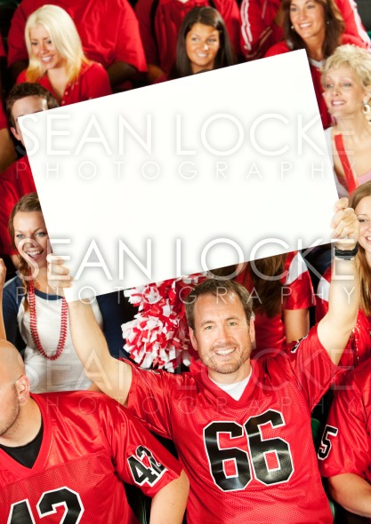 Fans: Holding Up a Blank Sign For Team Stock Photography Content by Sean Locke