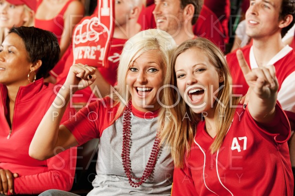 Fans: Two Friends at the Game Stock Photography Content by Sean Locke