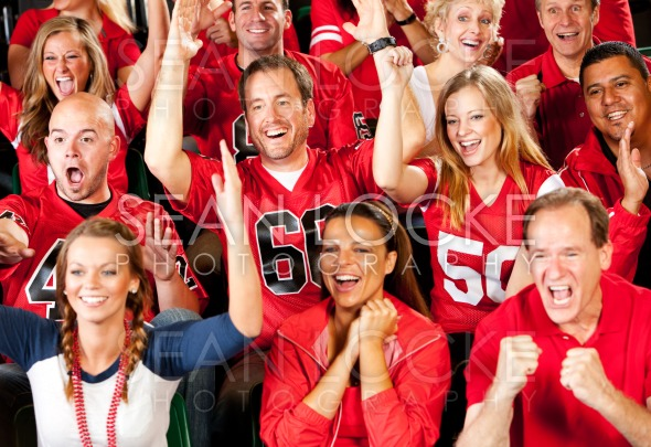 Fans: Team Scores Touchdown and Fans Cheer Stock Photography Content by Sean Locke