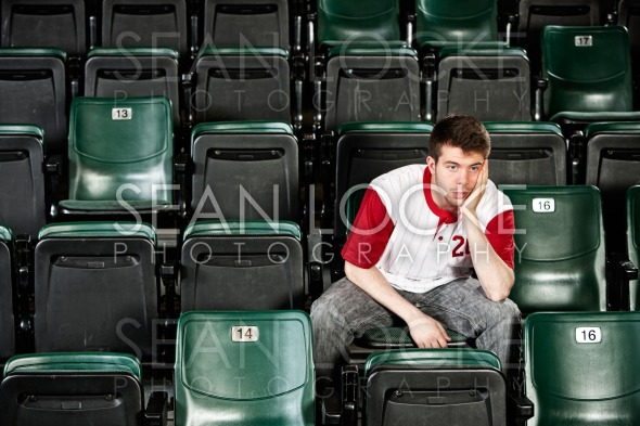 Fans: Fan Disappointed with Loss Stock Photography Content by Sean Locke
