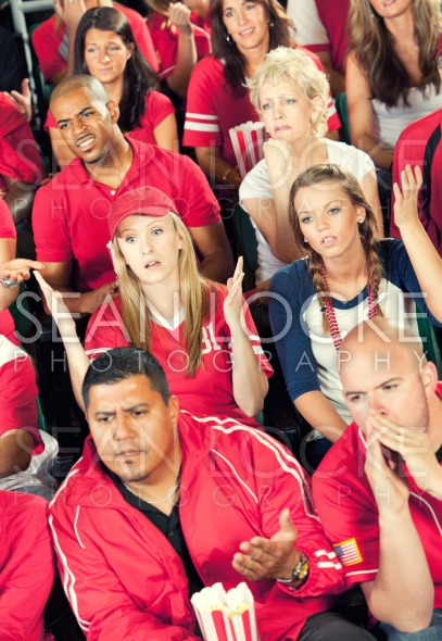 Fans: Crowd Upset with Play Stock Photography Content by Sean Locke