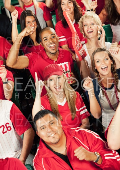 Fans: Fans Excited About Number One Team Stock Photography Content by Sean Locke