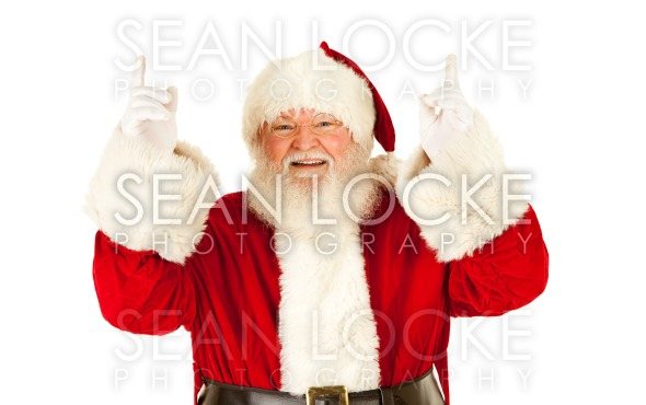 Santa: Pointing Upwards Stock Photography Content by Sean Locke