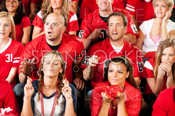 Fans: Not Sure if Team is Going to Score Stock Photography Content by Sean Locke