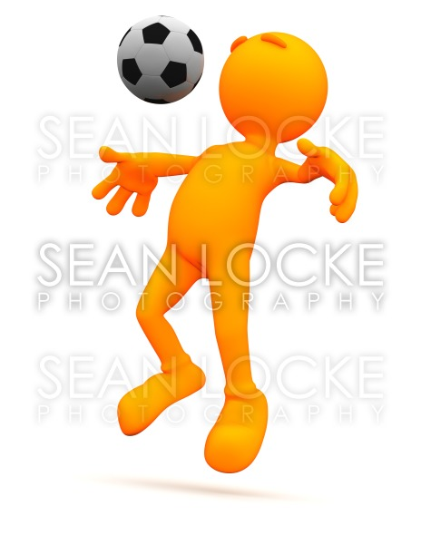 3d Guy: Soccer Man Doing Chest Bump Stock Photography Content by Sean Locke
