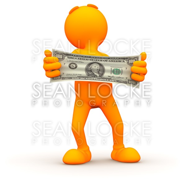 3d Guy: Stretching Your Money Stock Photography Content by Sean Locke