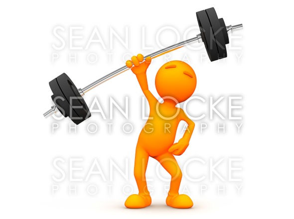 3d Guy: Easy to Lift Weights Stock Photography Content by Sean Locke