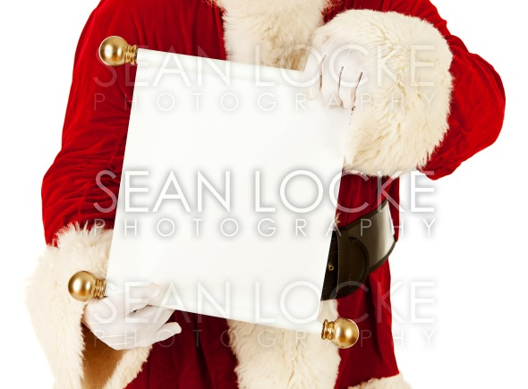 Santa: Holding A Christmas List Scroll Stock Photography Content by Sean Locke