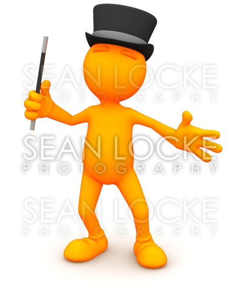 3d Guy: Ready to Put on a Magic Show Stock Photography Content by Sean Locke