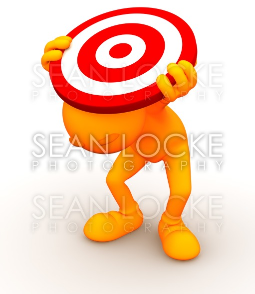 3d Guy: Hiding Under a Target Stock Photography Content by Sean Locke