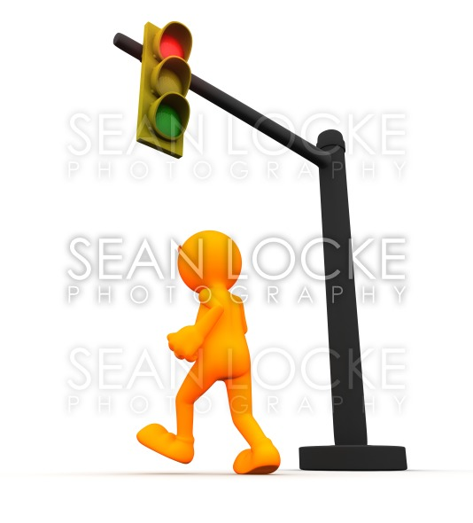 3d Guy: Man Running the Red Light Stock Photography Content by Sean Locke