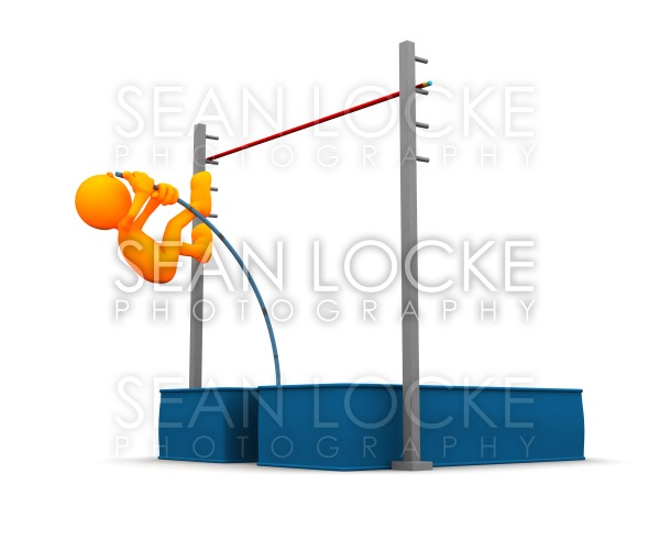 3d Guy: Starting the Pole Vault Stock Photography Content by Sean Locke