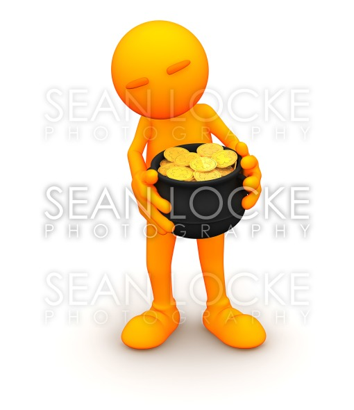 3d Guy: Found a Pot of Gold Stock Photography Content by Sean Locke