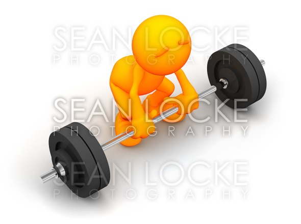 3d Guy: Attempting to Lift Barbell Stock Photography Content by Sean Locke