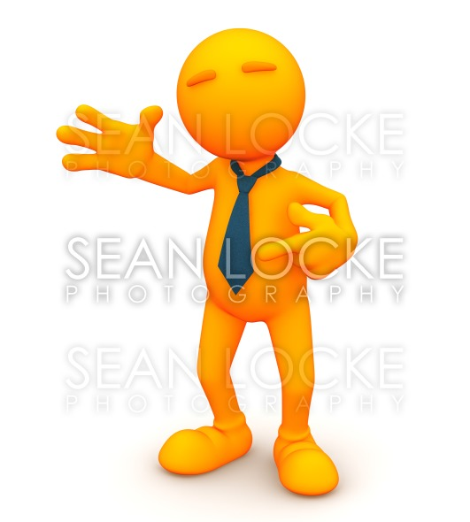 3d Guy: Pointing at Tie Stock Photography Content by Sean Locke