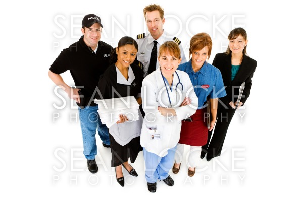 Occupations: Group of People in Various Jobs Stock Photography Content by Sean Locke