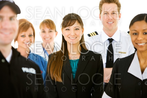 Occupations: Cheerful People in Various Occupations Stock Photography Content by Sean Locke