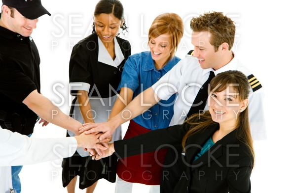 Occupations: Businesswoman Happy to Join Others Stock Photography Content by Sean Locke