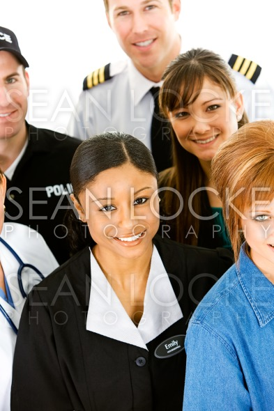 Occupations: People in Various Occupations Together Stock Photography Content by Sean Locke