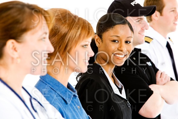 Occupations: Housekeeper Looks to Camera Stock Photography Content by Sean Locke