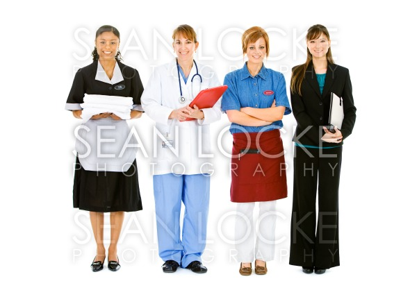 Occupations: Women in a Variety of Occupations Stock Photography Content by Sean Locke