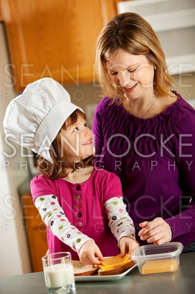 Kitchen Girl: Cooking with Mom Stock Photography Content by Sean Locke