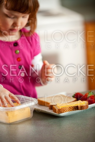 Kitchen Girl: Focus on American Cheese Stock Photography Content by Sean Locke